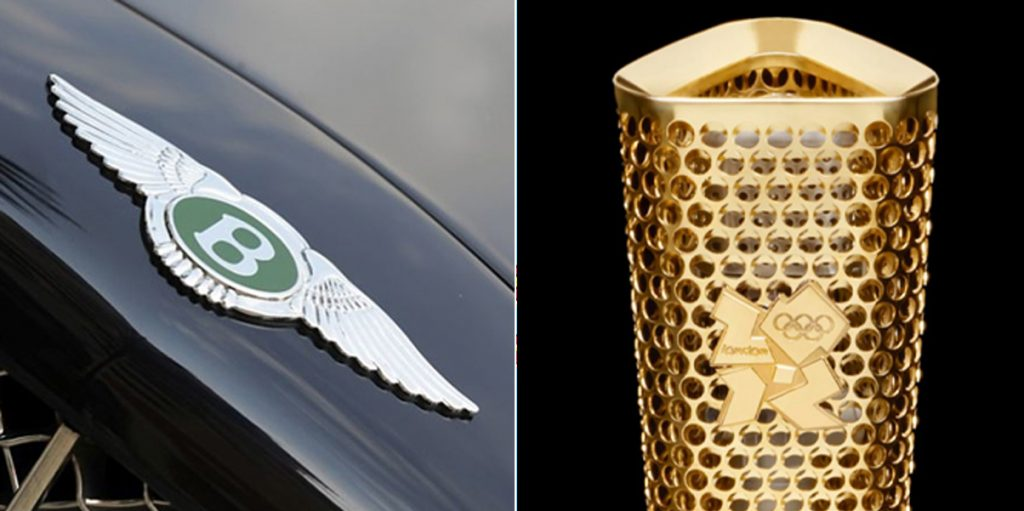 Fattorini create badges for Luxury car brands and the 2012 British Olympic torch