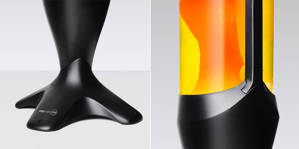 Mathmos giant lava lamp in black - High quality metal work