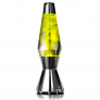Metallic yellow lava lamp - on