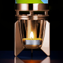 Fireflow candle powered lava lamp