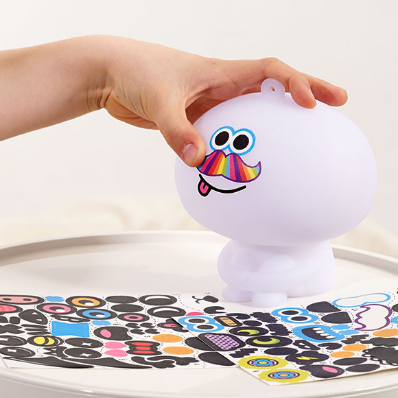 Mathmos Chuppi - apply stickers to create character