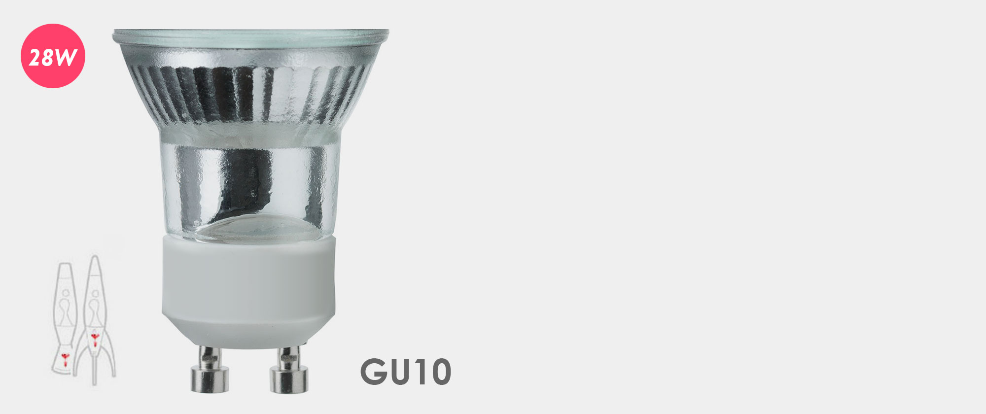 28W   Telstar Lava Lamp Bulb   GU10 Fitting Halogen