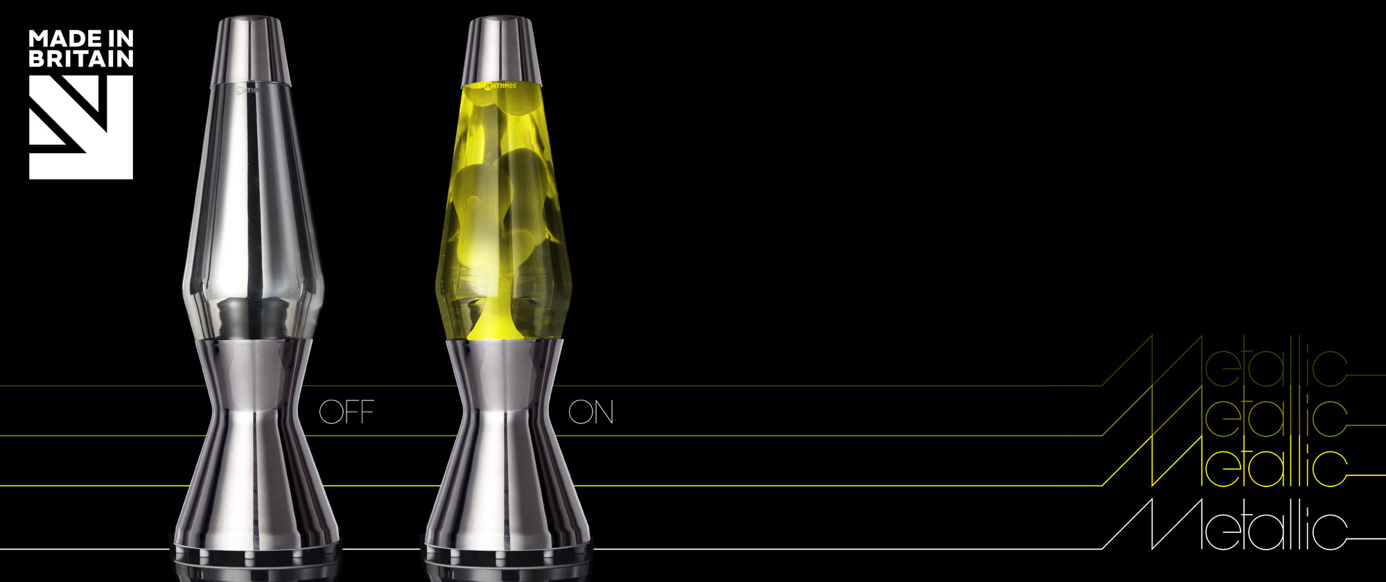 Astro lava lamp: Metallic