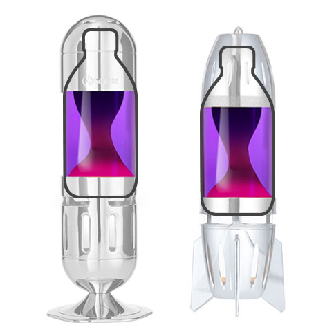 Candle lava lamp bottle Violet Pink
