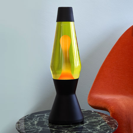 Astro lava lamp: Black & Gold