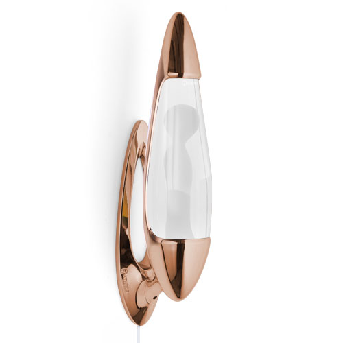 Neo wall lava lamp base and cap - Copper