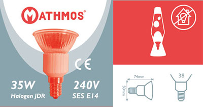 Mathmos astro lava lamp bulb specification