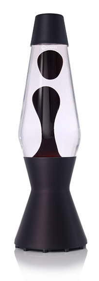 Mathmos Astro Black Lava lamp - clear with black Lava