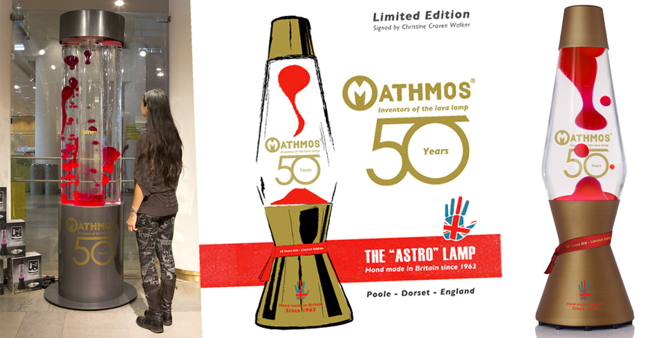 Mathmos lava lamps 50th Birthday