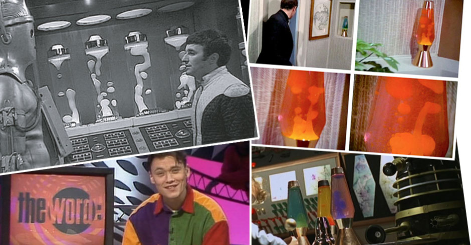 Mathmos lava lamps in film - Dr who Superman The Prisoner
