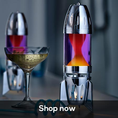 Mathmos Fireflow candle lava lamp