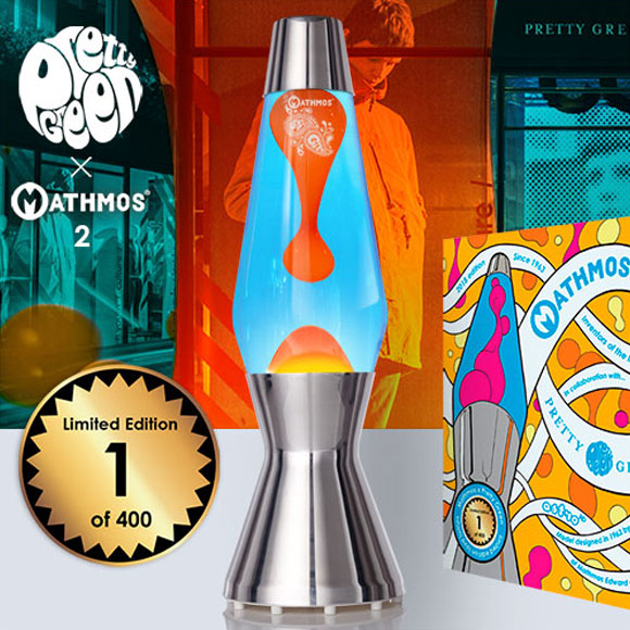Mathmos x Pretty Green lava lamp